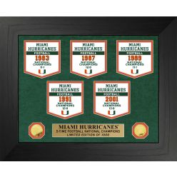 University of Miami Hurricanes National Champions Deluxe Banner Collection