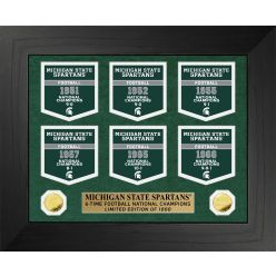 Michigan State University Spartans National Champions Deluxe Banner Collection