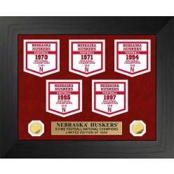 University of Nebraska Cornhuskers National Champions Deluxe Banner Collection