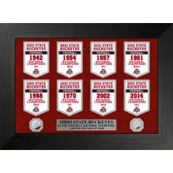 Ohio State University Buckeyes National Champions Deluxe Banner Collection