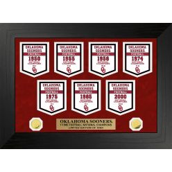 University of Oklahoma Sooners National Champions Deluxe Banner Collection
