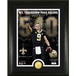 Drew Brees NFL Touchdown Pass Record 540 Bronze Coin Photo Mint