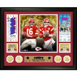 Kansas City Chiefs Super Bowl Then and Now Bronze Coin Photo Mint