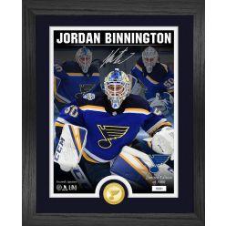 Jordan Binnington Signature Series Bronze Coin Photo Mint