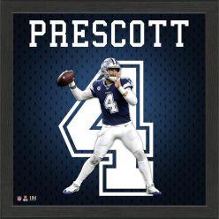 Dak Prescott Jersey Number Frame