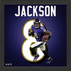 Lamar Jackson Jersey Number Frame