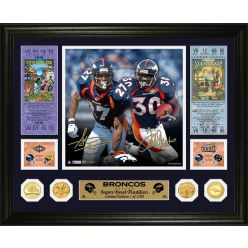 Steve Atwater & Terrell Davis Broncos Super Bowl Traditions Bronze Coin Photo Mint