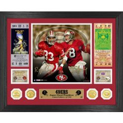 Roger Craig & Steve Young 49ers Super Bowl Tradition Bronze Coin Photo Mint