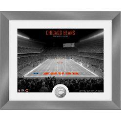 Chicago Bears Art Deco Stadium Silver Coin Photo Mint