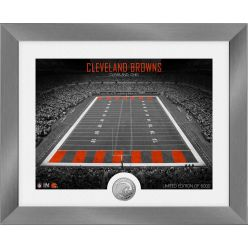 Cleveland Browns Art Deco Stadium Silver Coin Photo Mint