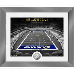 Los Angeles Rams Art Deco Stadium Silver Coin Photo Mint