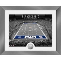 New York Giants Art Deco Stadium Silver Coin Photo Mint