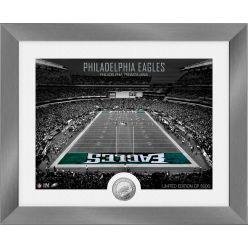Philadelphia Eagles Art Deco Stadium Silver Coin Photo Mint
