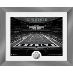 Las Vegas Raiders Art Deco Stadium Silver Coin Photo Mint