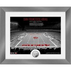 San Francisco 49ers Art Deco Stadium Silver Coin Photo Mint