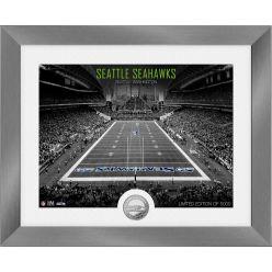 Seattle Seahawks Art Deco Stadium Silver Coin Photo Mint