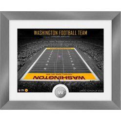 Washington Football Team Art Deco Stadium Silver Coin Photo Mint