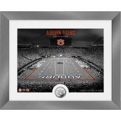 Auburn Tigers Art Deco Stadium Silver Coin Photo Mint