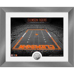 Clemson Tigers Art Deco Stadium Silver Coin Photo Mint