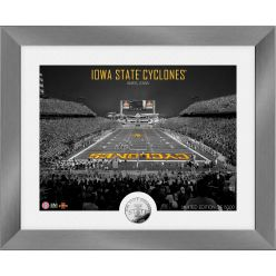 Iowa State Cyclones Art Deco Stadium Silver Coin Photo Mint