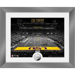 LSU Tigers Art Deco Stadium Silver Coin Photo Mint