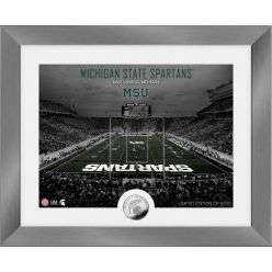 Michigan State Spartans  Art Deco Stadium Silver Coin Photo Mint