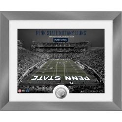 Penn State Nittany Lions Art Deco Stadium Silver Coin Photo Mint