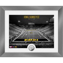 Iowa Hawkeyes Art Deco Stadium Silver Coin Photo Mint