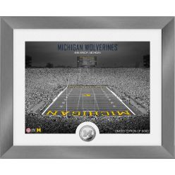 Michigan Wolverines Art Deco Stadium Silver Coin Photo Mint