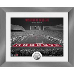 Wisconsin Badgers Art Deco Stadium Silver Coin Photo Mint