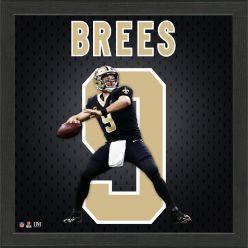 Drew Brees Jersey Number Frame