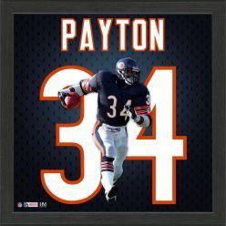 Walter Payton Jersey Number Frame