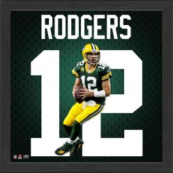 Aaron Rodgers Jersey Number Frame