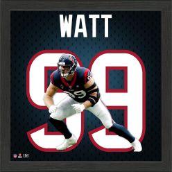 JJ Watt Jersey Number Frame