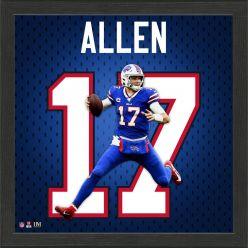 Josh Allen Jersey Number Frame