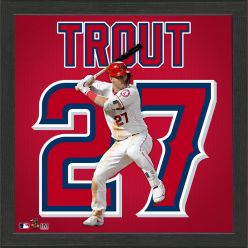 Mike Trout Impact Jersey Framed Photo