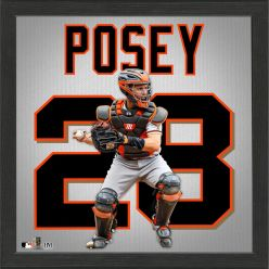 Buster Posey Impact Jersey Framed Photo