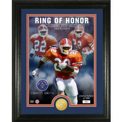 Emmitt Smith Ring Of Honor Bronze Coin Photo Mint