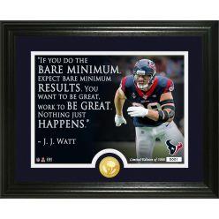 JJ Watt Quote Bronze Coin Photo Mint