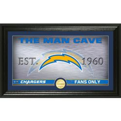 "Los Angeles Chargers ""The Man Cave"" Bronze Coin Panoramic Photo Mint"