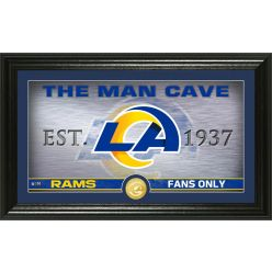 "Los Angeles Rams ""The Man Cave"" Bronze Coin Panoramic Photo Mint"