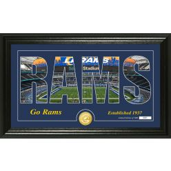 """Los Angeles Rams """"Silhouette"""" Bronze Coin Photo Mint"""