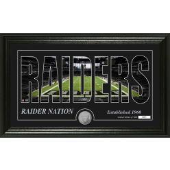 "Las Vegas Raiders ""Silhouette"" Bronze Coin Photo Mint"