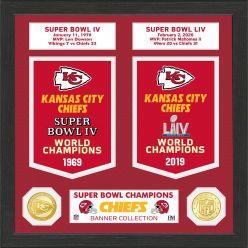Kansas City Chiefs Super Bowl Banner Collection Bronze Coin Photo Mint