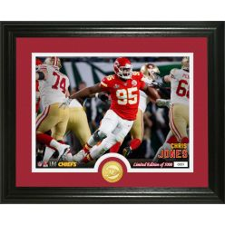 Chris Jones Super Bowl 54 Bronze Coin Photo Mint