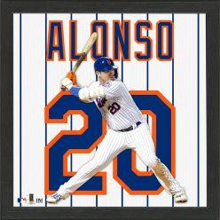 Pete Alonso Impact Jersey Framed Photo