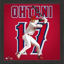 Shohei Ohtani Impact Jersey Framed Photo