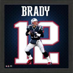 Tom Brady New England Patriots Impact Jersey Frame