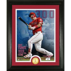 Mike Trout 300 Career Home Runs Bronze Coin Photo Mint