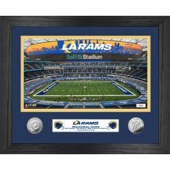 Los Angeles Rams Inaugural Season Game Silver Coin Photo Mint